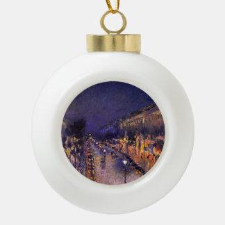 Boule En Céramique Camille Pissarro le boulevard Montmartre la nuit