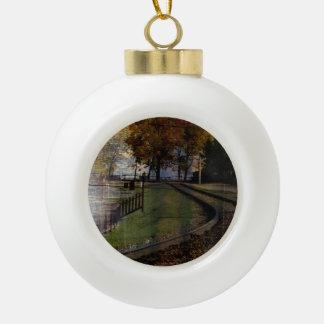 Boule En Céramique Chemin de fer de parc d'héritage du Canada Alberta