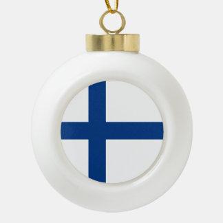 Boule En Céramique Drapeau de la Finlande