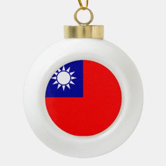Boule En Céramique Drapeau de Taïwan
