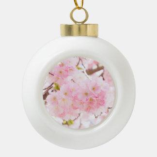 Boule En Céramique Fleur rose de cerise d'arbre