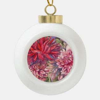 Boule En Céramique fleurs de dahlias