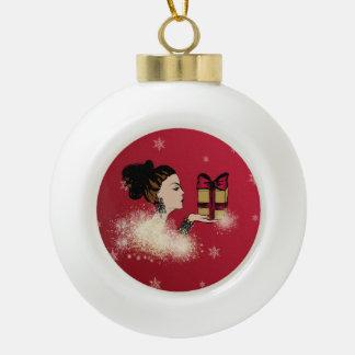 Boule En Céramique illustration de scintillement de mode de Noël