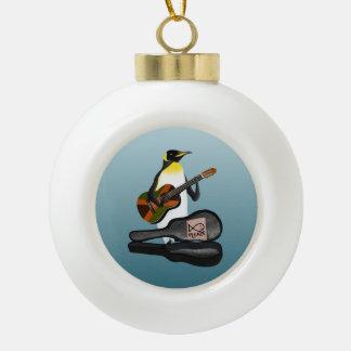 Boule En Céramique Jouer de la musique de pingouin