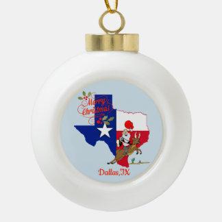 Boule En Céramique Joyeux Noël Dallas le Texas
