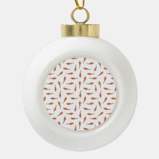 Boule En Céramique Koi pêche le motif de motif