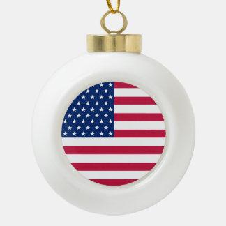 Boule En Céramique Le drapeau des Etats-Unis tient le premier rôle