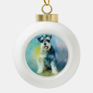 Boule En Céramique Peinture d'art de couleur d'eau de chien de