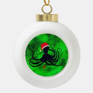 Boule En Céramique Poulpe de Noël
