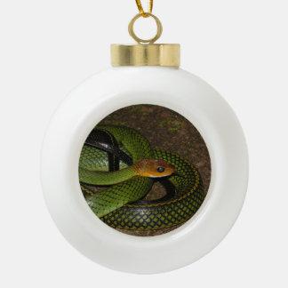 Boule En Céramique Ratsnake Noir-mis en marge ou serpent de rat vert