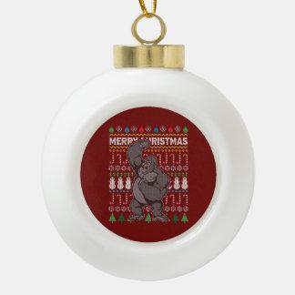 Boule En Céramique Série laide de faune de chandail de Noël de