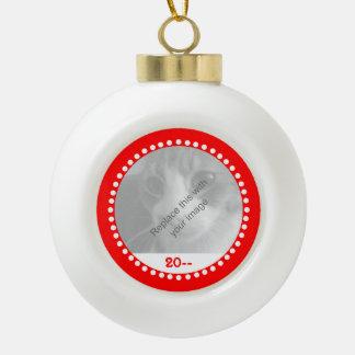 Boule En Céramique Souvenir mignon de Noël pour des animaux familiers