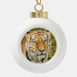 Boule En Céramique tigre sur l'ornement en céramique de boule