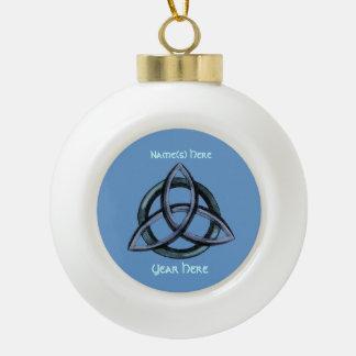 Boule En Céramique Triquetra (bleu)