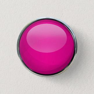 Boule en verre rose badge rond 2,50 cm