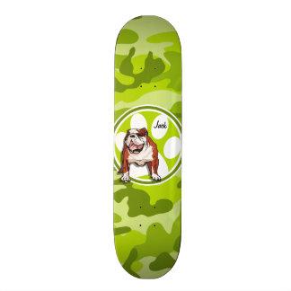 Bouledogue ; camo vert clair, camouflage plateau de skateboard