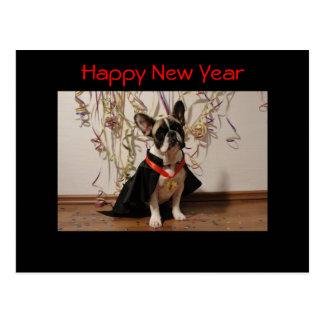 Bouledogue carte postale français «de New Year