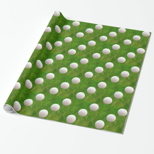Boules de golf sur l 39 herbe verte papier cadeau zazzle - Papier cadeau personnalisable ...