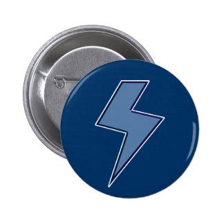 Boulon bleu badge rond 5 cm