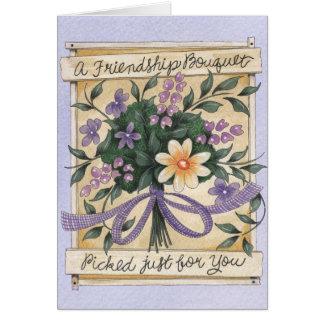 Bouquet d'amitié - carte de voeux
