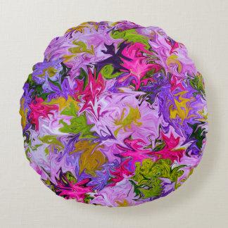 Bouquet de conception florale d'art abstrait de coussins ronds