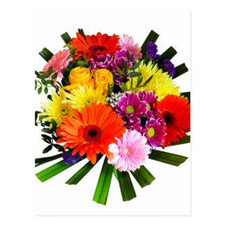 Bouquet de fleur cartes postales