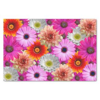 Bouquet de fleur papier mousseline