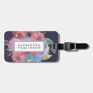 Bouquet de fleur sauvage personnalisé étiquettes bagages