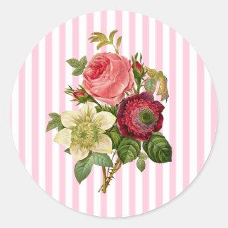 Bouquet des autocollants chics floraux minables de