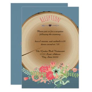 Bouquet en bois rustique - invitation de réception