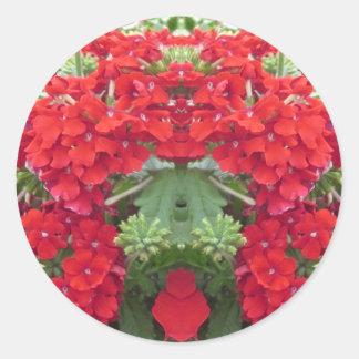 Bouquet NVN219 NavinJOSHI de fleur d'AMUSEMENT de Sticker Rond