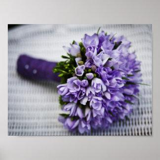 Bouquet pourpre de mariage poster