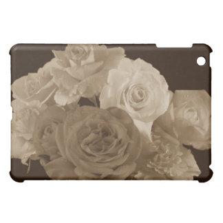 Bouquet rose de sépia étui iPad mini