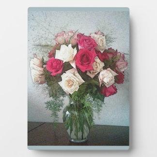 Bouquet rose plaque photo