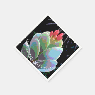 Bourgeon floraux de cactus serviette jetable