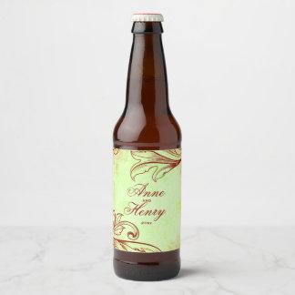 Bourgogne vintage étiquette pour bouteilles de bière