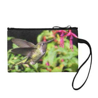 Bourse de pièce de monnaie de colibri