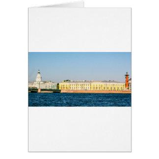 Bourse des valeurs de vieux St Petersbourg Carte
