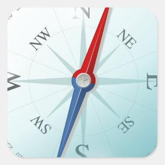 Boussole / compass sticker carré