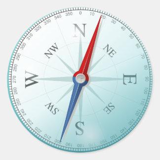Boussole / compass sticker rond