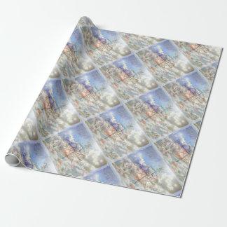 Boussole de nuages papier cadeau
