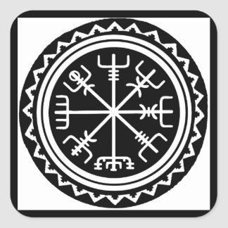 Boussole de Viking Vegvisir Sticker Carré