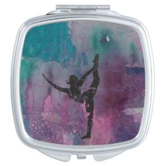 Bout droit debout YG - miroir compact de jambe