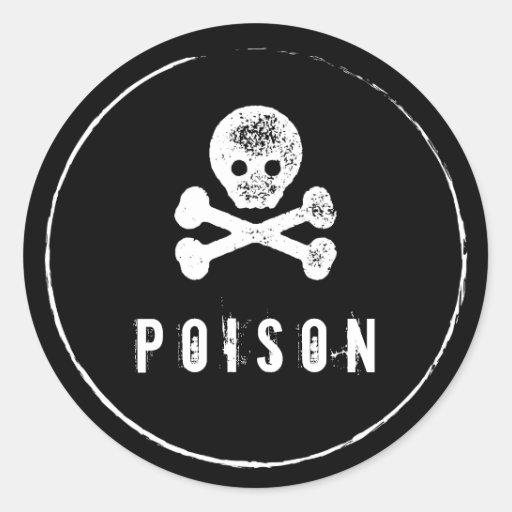 Bouteille de poison tiquette de bouteille sticker rond for Acheter poison