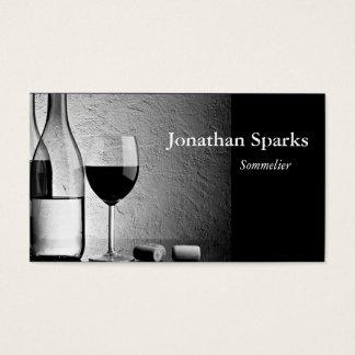Bouteille de vin de Sommelier Carte De Visite Standard