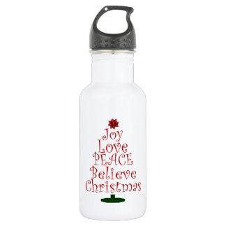 Bouteille D'eau Arbre de Noël de joie