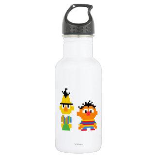 Bouteille D'eau En Acier Inoxydable Art de pixel de Bert et d'Ernie