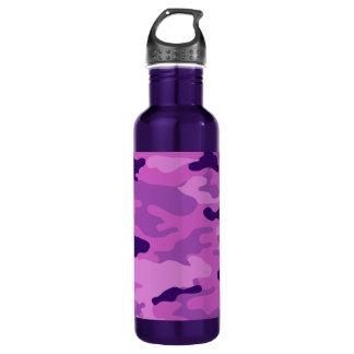 Bouteille D'eau En Acier Inoxydable Liberté Bottleworks de pourpres de Camo