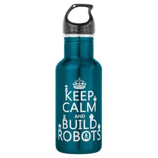 Bouteille D'eau En Acier Inoxydable Maintenez les robots calmes et de construction