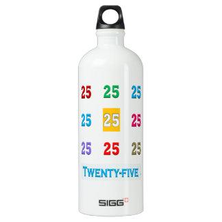 Bouteille D'eau En Aluminium 25 25èmes vingt-cinquième anniversaire xxv de